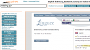 Example of search using the Linguee engine in Chrome
