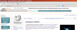 Example of search using Wikipedia in Firefox